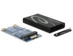 DeLOCK 42569 SSD enclosure Black, Grey storage drive enclosure