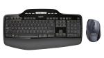 Logitech Wireless Desktop MK710, USB 2.4 GHz Unifying receiver, Black, Pan Nordic