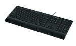 Logitech K280e Corded Keyboard, USB, 930g, Nordic, OEM, Black