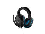 Logitech G432 Binaural Head-band Black,Blue